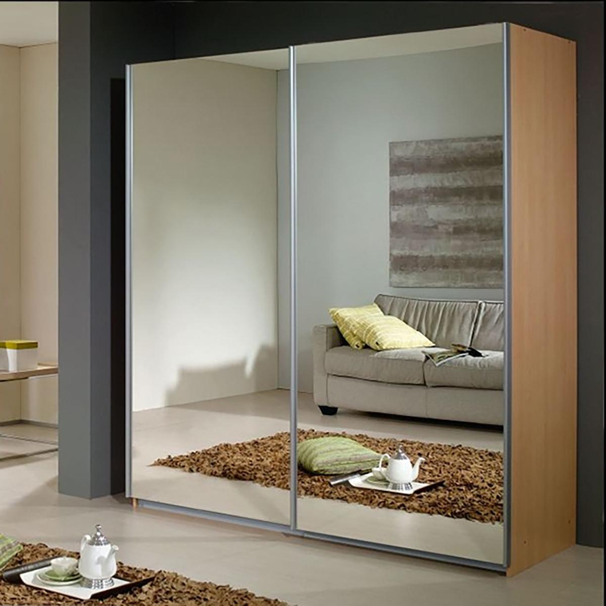 2-дверный корпусный шкаф-купе с зеркалом.